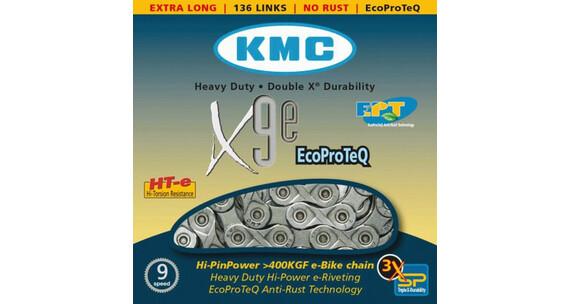 KMC X-9e E-Bike - Chaîne - 9 vitesses argent